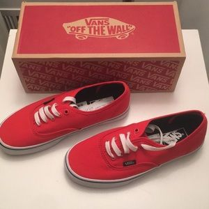 BRAND NEW red authentic Vans
